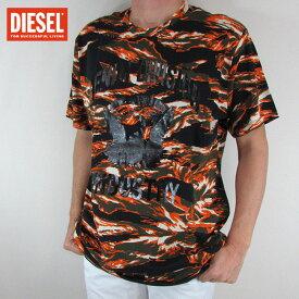 ディーゼル DIESEL メンズ トップス半袖 Tシャツ カットソー T-JOE-HJ / 35E / オレンジカモ サイズ:L/XXL