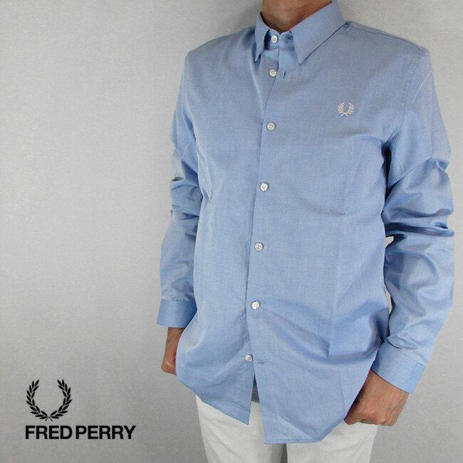 フレッドペリー FRED PERRY シャツ メンズ トップス 長袖 アメカジ カジュアル M4533-27 / 146 / L.ブルー サイズ:L/XL