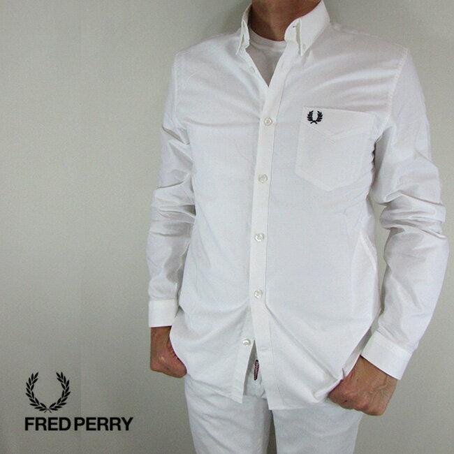 フレッドペリー FRED PERRY シャツ メンズ トップス 長袖 アメカジ カジュアル M3551-27 / 100 / ホワイト サイズ:M/XL/XXL