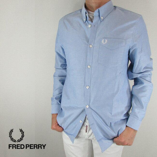 フレッドペリー FRED PERRY シャツ メンズ トップス 長袖 アメカジ カジュアル M3551-27 / 146 / L.ブルー サイズ:S〜XL