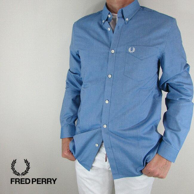 フレッドペリー FRED PERRY シャツ メンズ トップス 長袖 アメカジ カジュアル M3551-27 / 111 / ブルー サイズ:S〜XL