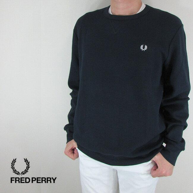 フレッドペリー FRED PERRY メンズ スウェット トレーナー 長袖 プルオーバー M4555-27 / 226 / ネイビー サイズ:L/XL/XXL