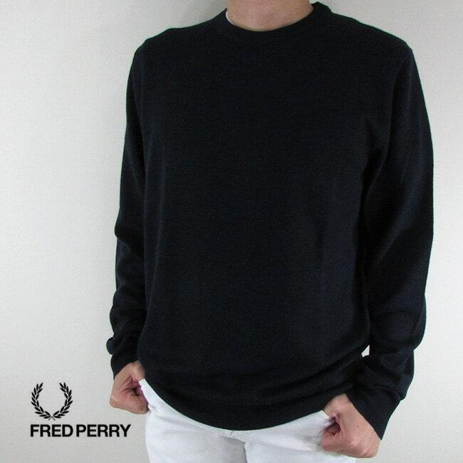 フレッドペリー FRED PERRY メンズ ニット セーター 長袖 トップス K4501-27 / 208 / ネイビー/ブラック サイズ:L/XL/XXL