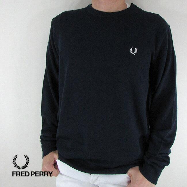 フレッドペリー FRED PERRY メンズ ニット セーター 長袖 トップス K4501-27 / 395 / ネイビー/ホワイト サイズ:L/XL/XXL