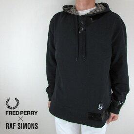 フレッドペリー ラフシモンズ FRED PERRY×RAF SIMONS メンズ パーカー スウェット SM4106 / 102 / ブラック サイズ:36/38