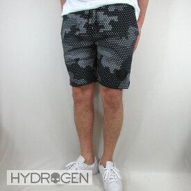 ハイドロゲン HYDROGEN メンズ ハーフパンツ ショートパンツ 240612 / 857 / ブラックカモフラ サイズ:S〜2XL