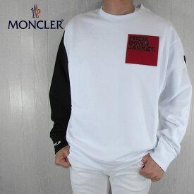モンクレール MONCLER メンズ スウェット トレーナー プルオーバー 8038750 809DU / 1 / ホワイト サイズ:S〜XXL