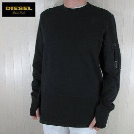 ディーゼル ブラックゴールド DIESEL BLACK GOLD メンズ プルオーバー スウェット トレーナー STORNEY-LF / 900 / ブラック サイズ:S/M/XL