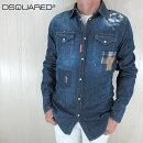 ディースクエアードDSQUARED2シャツデニムシャツメンズトップスデニムS74DM0159/470/ブルーサイズ:48