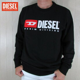 ディーゼル DIESEL メンズ プルオーバー スウェット トレーナー S-GIR-DIVISION / 900 / ブラック 黒 サイズ:M〜XL