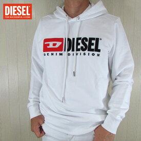 ディーゼル DIESEL パーカー メンズ スウェット プルオーバー パーカー S-GIR-HOOD-DIVISION / 100 / ホワイト 白 サイズ:M〜XL