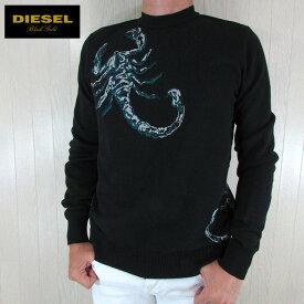 ディーゼル ブラックゴールド DIESEL BLACK GOLD メンズ ニット セーター KWAN BSCORPIO / 900 / ブラック サイズ:M/L/XL