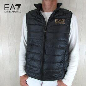 エンポリオアルマーニ EA7 EMPORIO ARMANI メンズ ダウン ベスト アウター 8NPQ01 PN29Z / 0208 / ブラック/ゴールド サイズ:S〜3XL