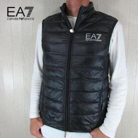 エンポリオアルマーニ EA7 EMPORIO ARMANI メンズ ダウン ベスト アウター 8NPQ01 PN29Z / 1200 / ブラック サイズ:S〜3XL