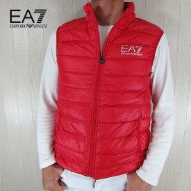 エンポリオアルマーニ EA7 EMPORIO ARMANI メンズ ダウン ベスト アウター 8NPQ01 PN29Z / 1451 / レッド サイズ:S〜3XL