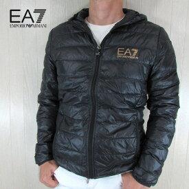 エンポリオアルマーニ EA7 EMPORIO ARMANI メンズ ダウン ジャケット フーデッド フード 8NPB02 PN29Z / 0208 / ブラック/ゴールド サイズ:S〜3XL