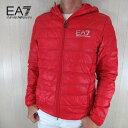 エンポリオアルマーニ EA7 EMPORIO ARMANI メンズ ダウン ジャケット フーデッド フード 8NPB02 PN29Z / 1451 / レッ…