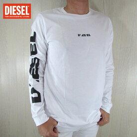 ディーゼル DIESEL メンズ カットソー 長袖Tシャツ カジュアル トップス T-JOE-LS-SN / 100 / ホワイト サイズ:S〜XL
