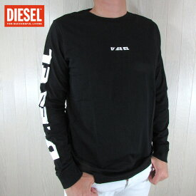 ディーゼル DIESEL メンズ カットソー 長袖Tシャツ カジュアル トップス T-JOE-LS-SN / 900 / ブラック サイズ:S〜XL