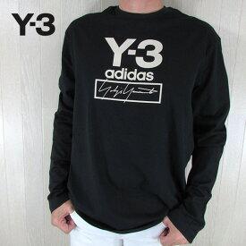 Y-3 ADIDAS YOHJI YAMAMOTO ワイスリー アディダス ヨウジヤマモト メンズ Tシャツ 長袖 カットソー FJ0406 / ブラック サイズ:S〜XL