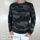 ハイドロゲンHYDROGENメンズTシャツ長袖カットソー250621/602/グレーカモサイズ:S〜XXL
