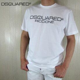 ディースクエアード DSQUARED2 メンズ 半袖 ロゴ プリント Tシャツ S74GD0645 / 100 / ホワイト 白 サイズ:S/M/L