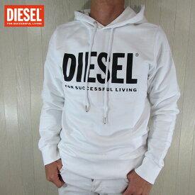 ディーゼル DIESEL パーカー メンズ スウェット S-GIR-HOOD-DIVISION-LOGO / 100 / ホワイト 白 サイズ:S〜XL
