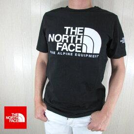 ノースフェイス THE NORTH FACE メンズ 半袖 ロゴ プリント Tシャツ NF0A4M6N / JK3 / TNF BLACK ブラック 黒 サイズ:S/M/L