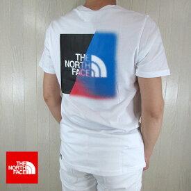 ノースフェイス THE NORTH FACE メンズ 半袖 ロゴ プリント Tシャツ NF0A4M6O / LA9 / ホワイト 白 サイズ:S/M/L