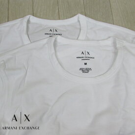 アルマーニエクスチェンジ A/X Armani Exchange メンズ 半袖 カットソー アンダーシャツ 2Pパック 956005 CC282 / 04710 / ホワイト 白 サイズ:S〜XL
