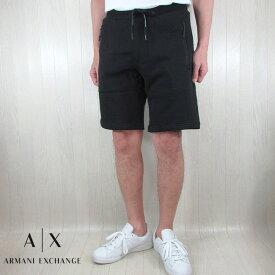 アルマーニエクスチェンジ A/X Armani Exchange メンズ スウェット ハーフパンツ ショートパンツ 8NZS75 ZJKRZ / 1200 / ブラック 黒 サイズ:S〜XXL