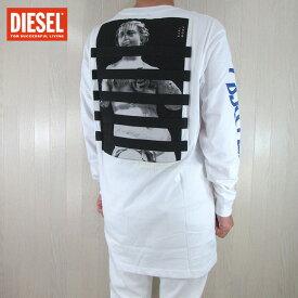 ディーゼル DIESEL メンズ 長袖 Tシャツ カットソー トップス ロングTシャツ T-LUCAS-LS-YB / 100 / ホワイト 白 サイズ:S〜XL