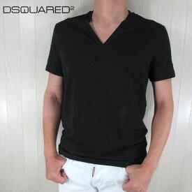 ディースクエアード DSQUARED2 メンズ 半袖 Tシャツ Vネック V首 DCM450030 / 200 / ブラック サイズ:S〜XXL