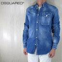 ディースクエアード DSQUARED2 メンズ デニムシャツ S74DM0379/470/ブルー サイズ:46/50
