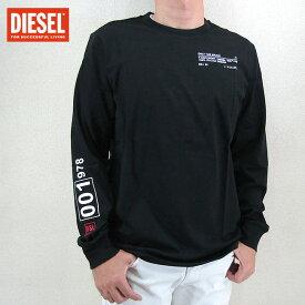 ディーゼル DIESEL メンズ Tシャツ ロンT ロゴ プリント T-JUST-LS-N62/9XX/ ブラック 黒 サイズ:S/M/L/XL/XXL/3XL