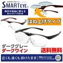 ★スマートアイ SMARTEYE メガネ型ルーペ はね上げ式 めがね 眼鏡 跳ね上げ 拡大鏡 メガネの上から 両手が使える 1.6…