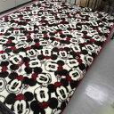 【あす楽】ニューマイヤー毛布(ミニーマウス/モノミニーレッド)シングル140×200cm【HLS_DU】