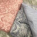日本製 羊毛混肌ふとん(フラワー)シングル約140×190cm  肌掛け布団