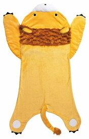 【あす楽】履くブランケット毛布(ライオン)約72×135cm 履けるブランケット毛布 寝袋