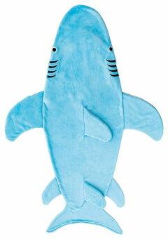 履くブランケット毛布(ホオジロサメ)約100×170cm履けるブランケット毛布寝袋
