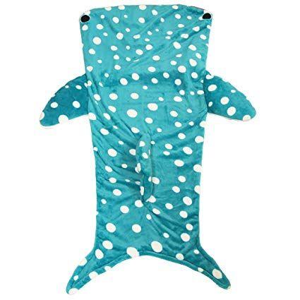 【あす楽】履くブランケット毛布(ジンベイザメ)約85×140cm 履けるブランケット毛布 寝袋