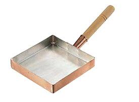 卵焼き が ふんわり上手にできる 銅 製 玉子焼 器 『 関東型 ( 27cm ) 』 プロ仕様 業務用 可 日本製 国産