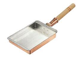 卵焼き が ふんわり上手にできる 銅 製 玉子焼 器 『 関西型 ( 27cm ) 』 プロ仕様 業務用 可 日本製 国産