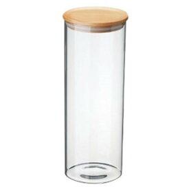 パスタを湿気から守る おしゃれな 木製蓋 密閉 ガラス保存容器 パスタケース