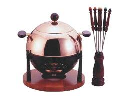 オシャレな本格派 銅 製 飛び散りを防ぐ 球体型 フォンデュ 鍋 セット 高 熱伝導率 プロ仕様 業務用 可 日本製 国産