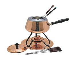 高 熱伝導率 の 本格派 銅 製 フォンデュ 鍋 セット プロ仕様 業務用 可 日本製 国産