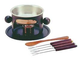 高 熱伝導率 の 本格派 チョコレート 銅 製 フォンデュ 鍋 セット ヘラ ・ 専用 フォーク 付き プロ仕様 業務用 可 日本製 国産
