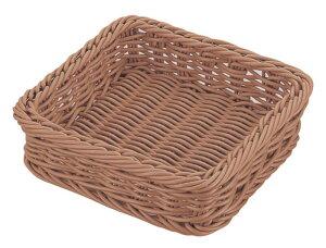 おしゃれ で かわいい 洗えて 衛生的 食品 & 小物 正角 フード バスケット ブラウン 食洗対応 300×300mm