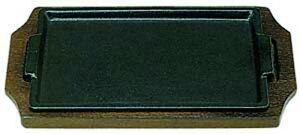 IH対応 ハンバーグ ・ ステーキ皿 セット 角型 タイプE 29cm×18cm スパゲティー 焼きそば など 鉄板焼 にも 業務用 可 日本製 国産