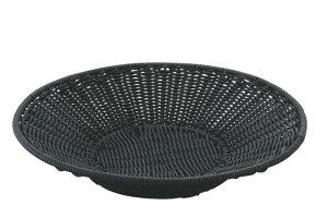 おしゃれ で かわいい 洗えて 衛生的 食品 & 小物 丸型 トレー フード バスケット ブラック 食洗機対応 φ600mm